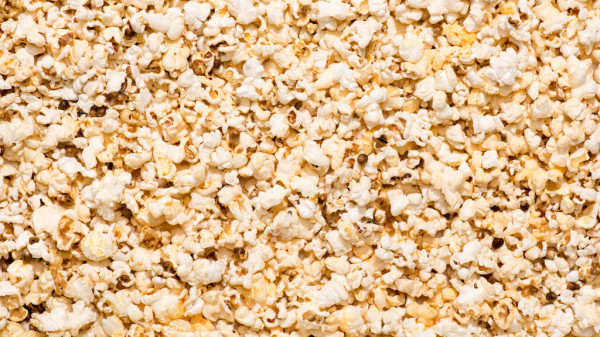 Full Frame Arranged Popcorn Background — стоковое фото